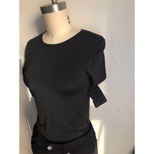 Helmet Lang-Black Tee Shirt